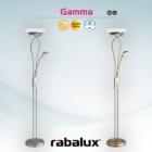 Rábalux Gamma állólámpa - szatin-króm