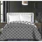 Triangles ágytakaró - 240*260 cm - fekete-fehér, kétoldalas