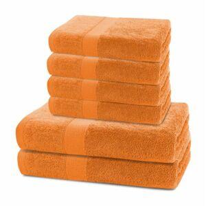 Marina 100% pamut törölköző - 6 db-os szett (2 db 70*140 cm + 4 db 50*100 cm) - narancs