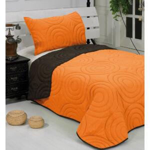 Betti kétoldalas ágytakaró - barna-narancs - 150*210 cm