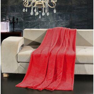 Henry bordázott pléd - 150*200 cm - piros