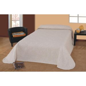 Laura ágytakaró - bézs leveles 160*260 cm
