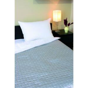 PE-szatén ágytakaró ezüst