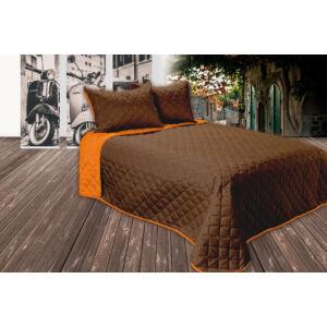 Gina kétoldalas ágytakaró - barna-narancs - 250*260 cm