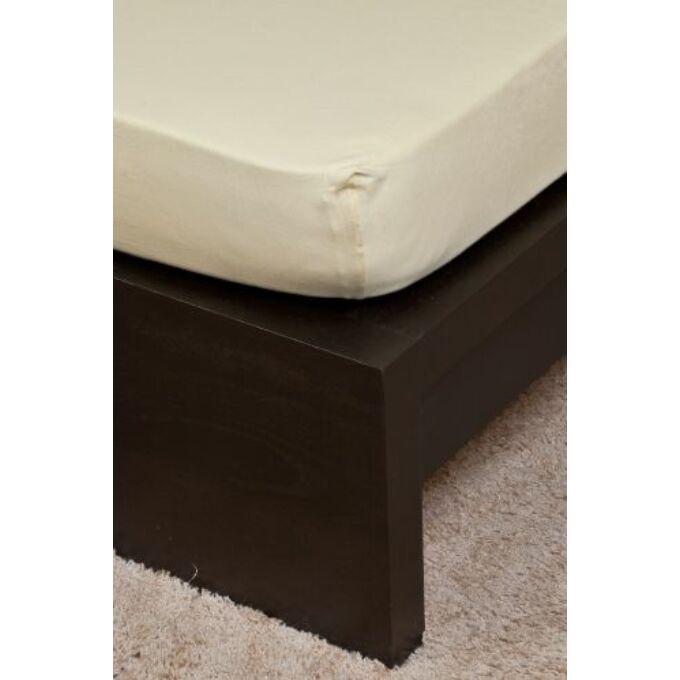 Jersey gumis lepedő 100×200, vanília
