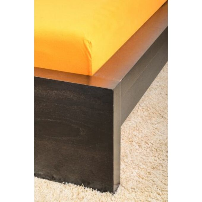 Jersey gumis lepedő 100×200, narancs