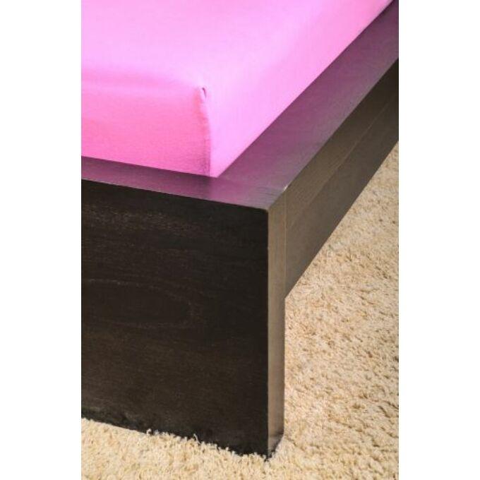Jersey gumis lepedő 160×200, világosrózsaszín