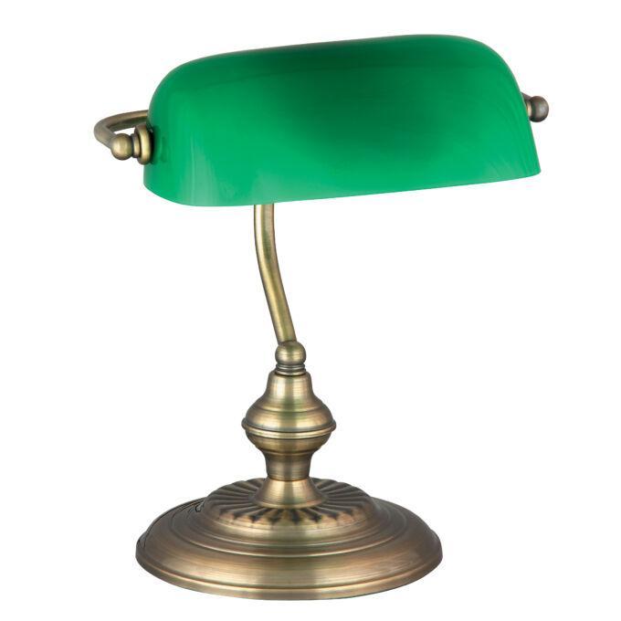 Rábalux Bank asztali lámpa - bronz-zöld