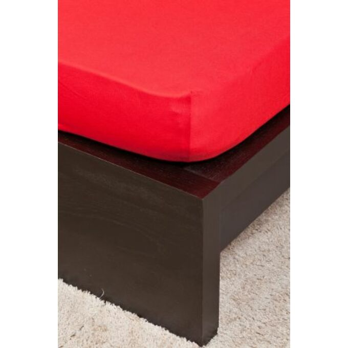 Jersey gumis lepedő 200×200, piros