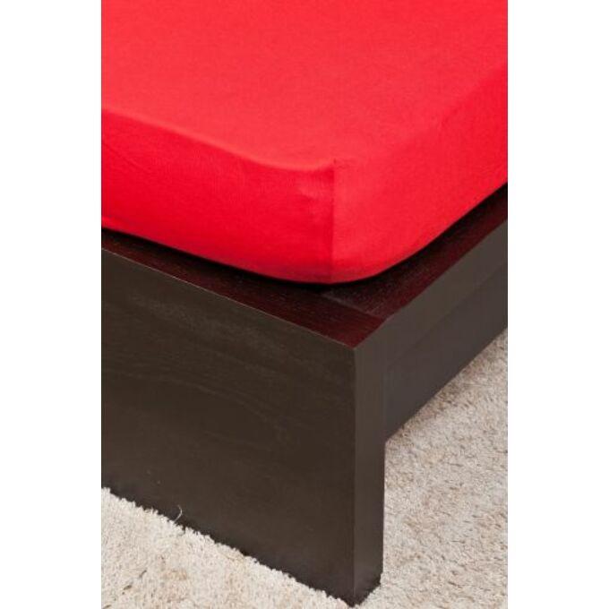 Jersey gumis lepedő 100×200, piros