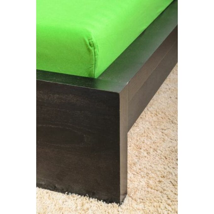 Jersey gumis lepedő 160×200, olajzöld