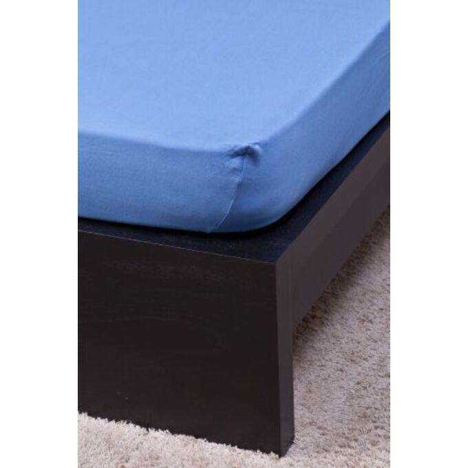 Jersey gumis lepedő 100×200, középkék
