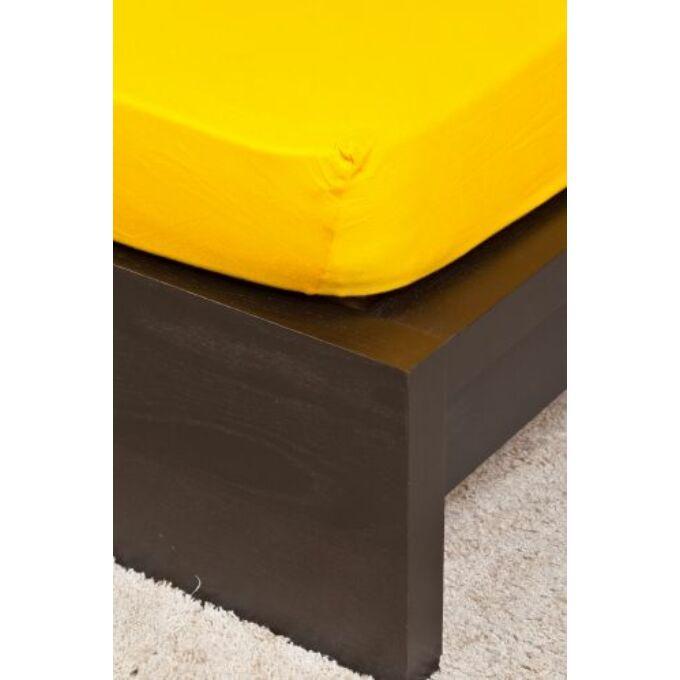 Jersey gumis lepedő 160×200, kukoricasárga