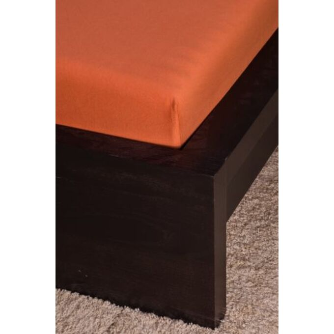 Jersey gumis lepedő 100×200, fahéj
