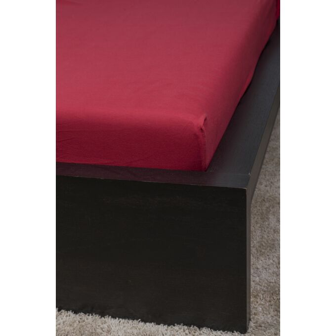 Jersey gumis lepedő 100×200, cherry