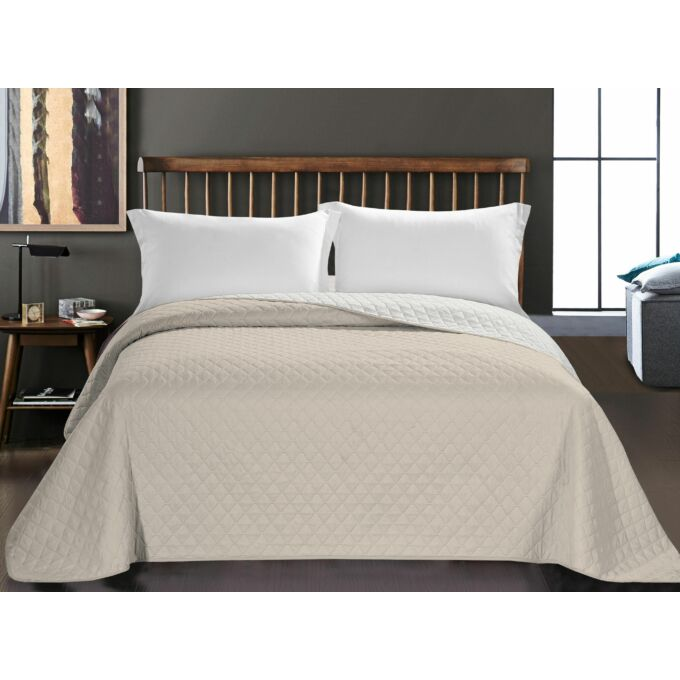 Axel ágytakaró - 240*260 - bézs-fehér - kétoldalas