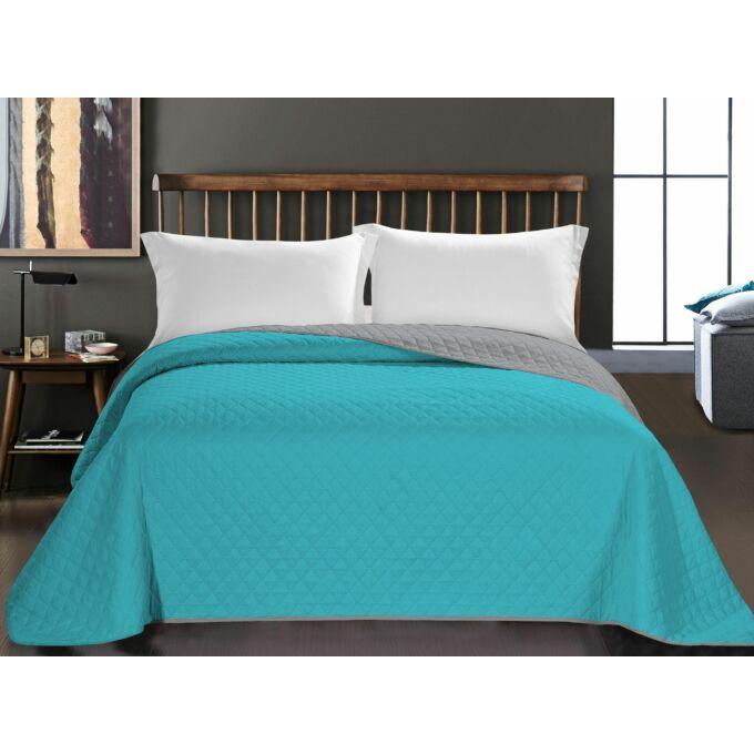 Axel ágytakaró - 170*210 - türkizkék-szürke kétoldalas