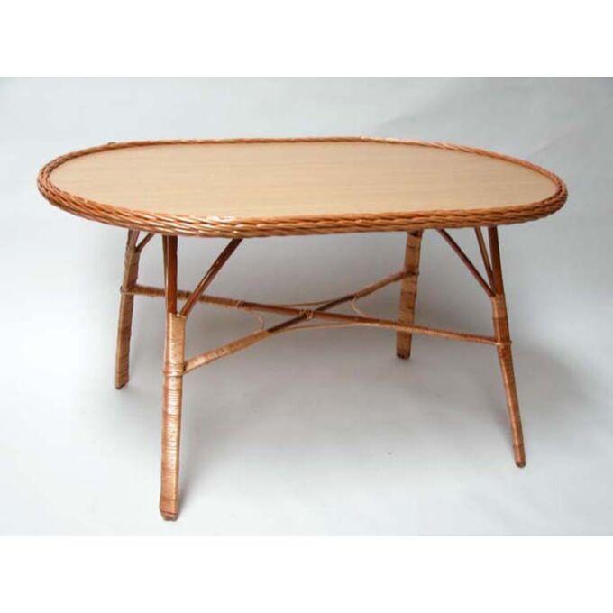Rattan asztal - négyszögletes (lekerekített)