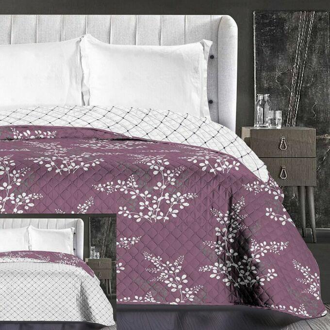 Calluna ágytakaró - 240*260 cm - viola-krém, kétoldalas