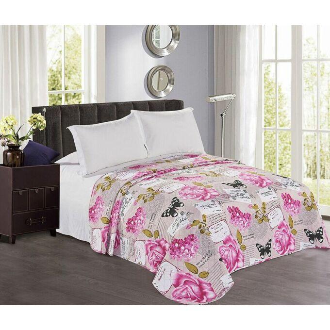 Gina ágytakaró - 240*260 cm - virágos, kétoldalas