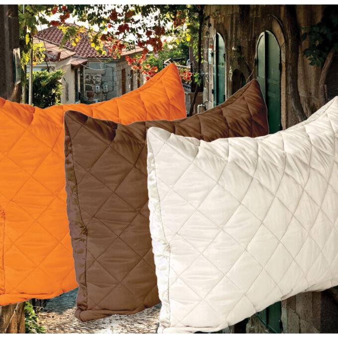 Gina díszpárnahuzat - barna-narancs, 50*70 cm, (Gina ágytakaróhoz)