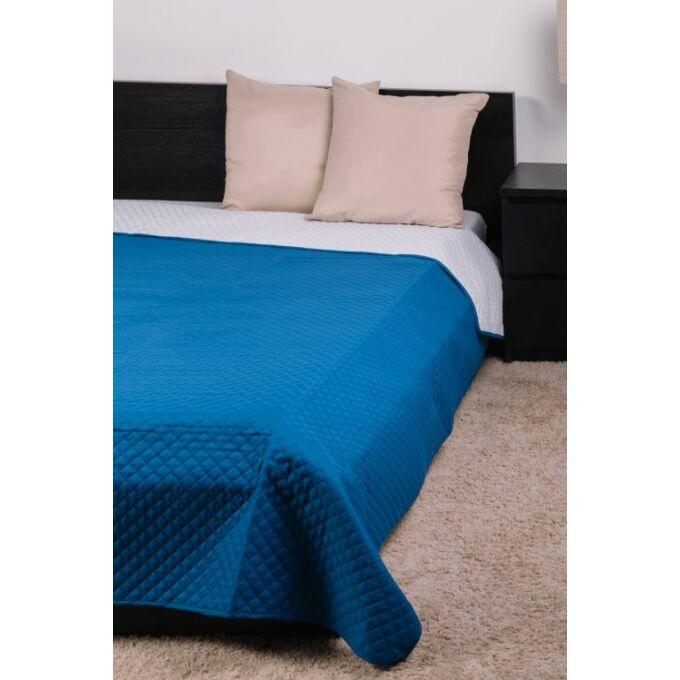Kék-fehér microfiber ágytakaró