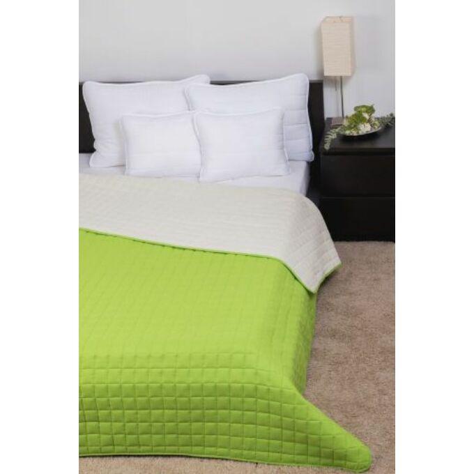 Laura ágytakaró microfiber világos zöld - törtfehér