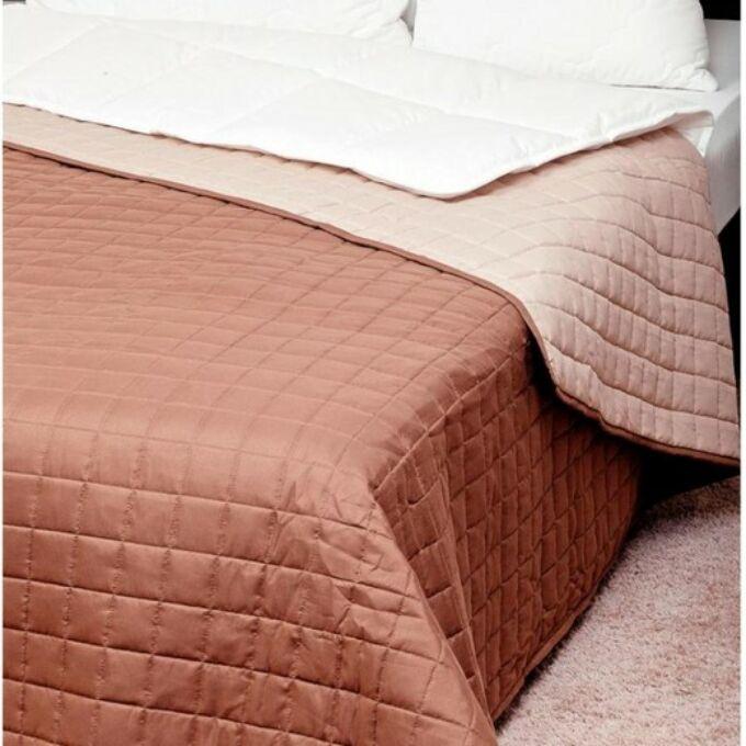 Laura ágytakaró microfiber barna-drapp