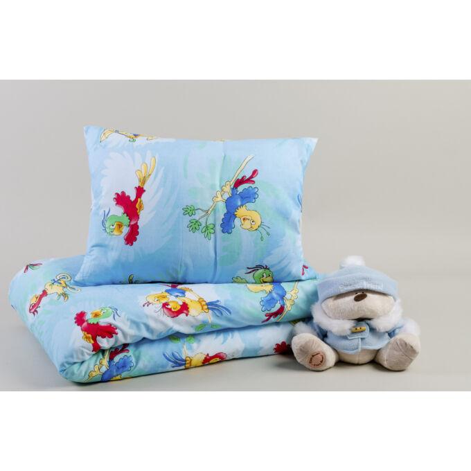 2 részes gyermek pamut ágyneműhuzat Parrot / Papagájos