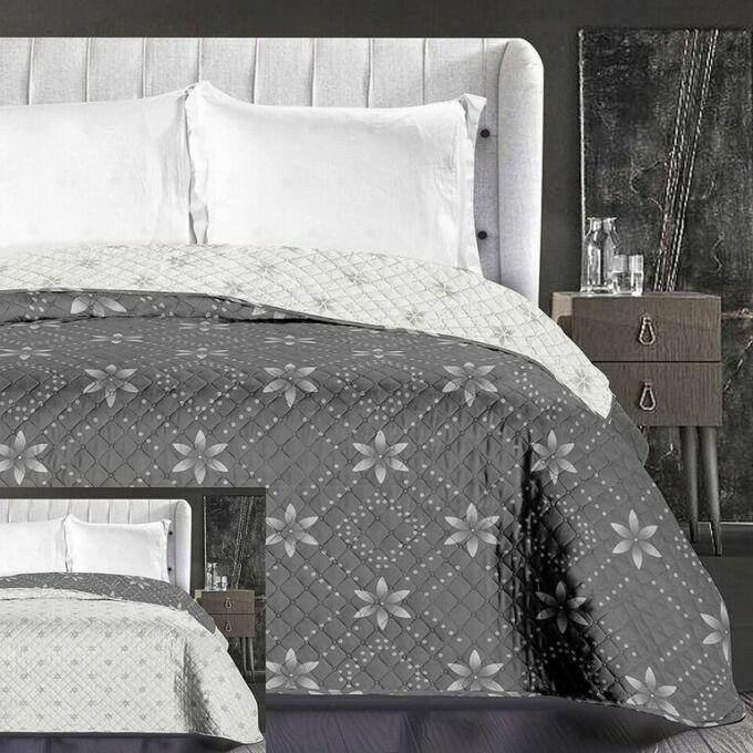 Snowynight ágytakaró - 220*240 cm - szürke-fehér, kétoldalas