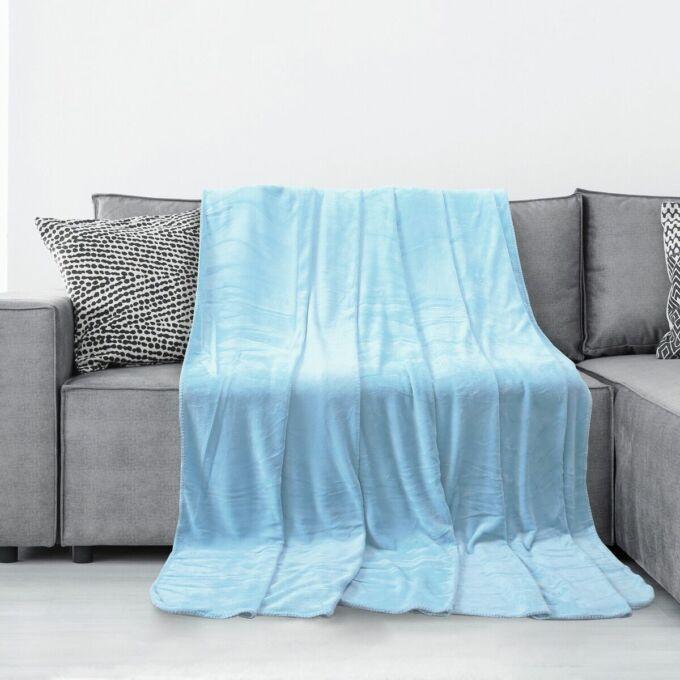 Tyler pléd - 220*240 cm - baba kék - extra puha