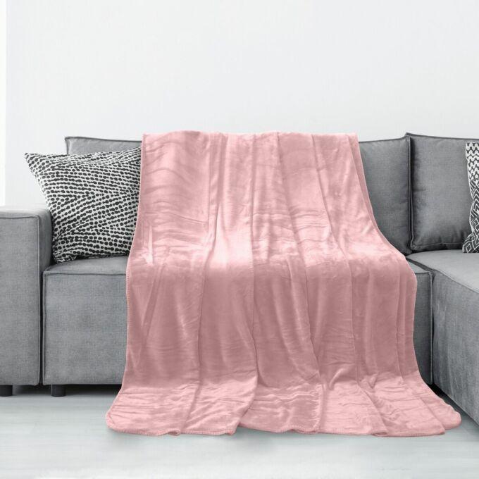 Tyler pléd - 70*150 cm - púder rózsaszín - extra puha