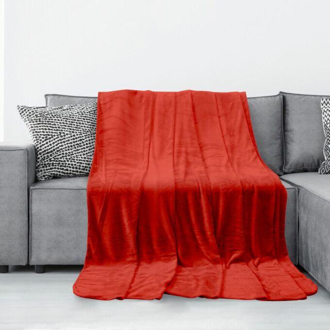 Tyler pléd - 70*150 cm - piros - extra puha