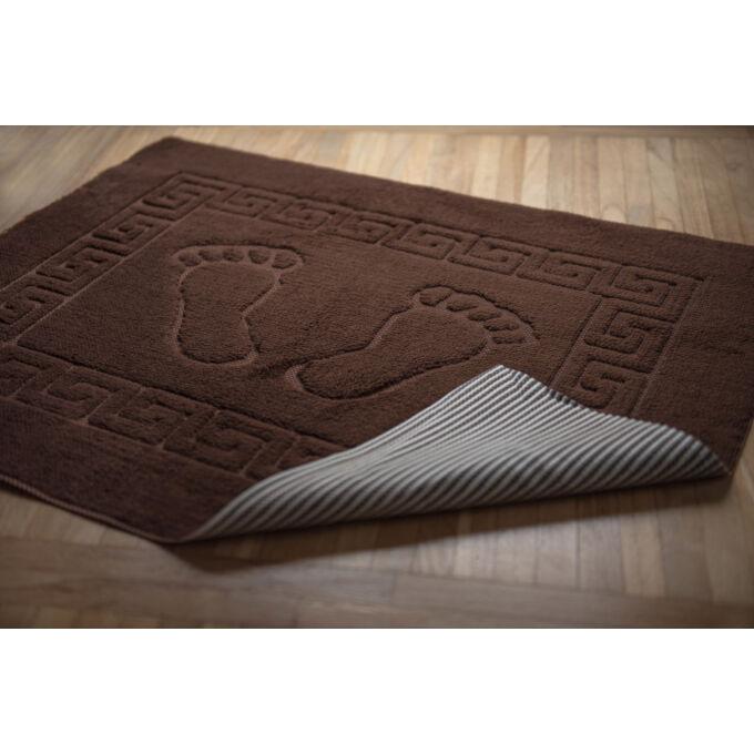Fürdőszoba szőnyeg - csúszásgátlóval - barna - 50*70 cm