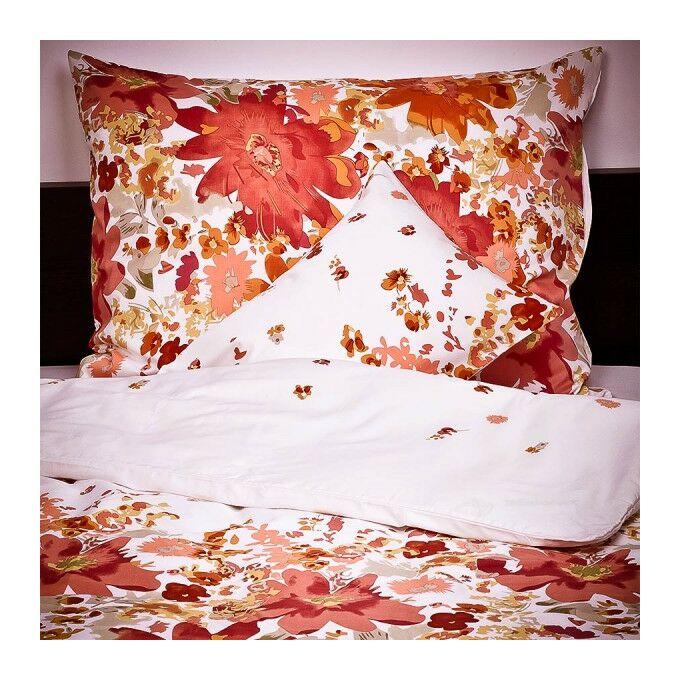 5 részes szatén ágyneműgarnitúra Bloom ősz