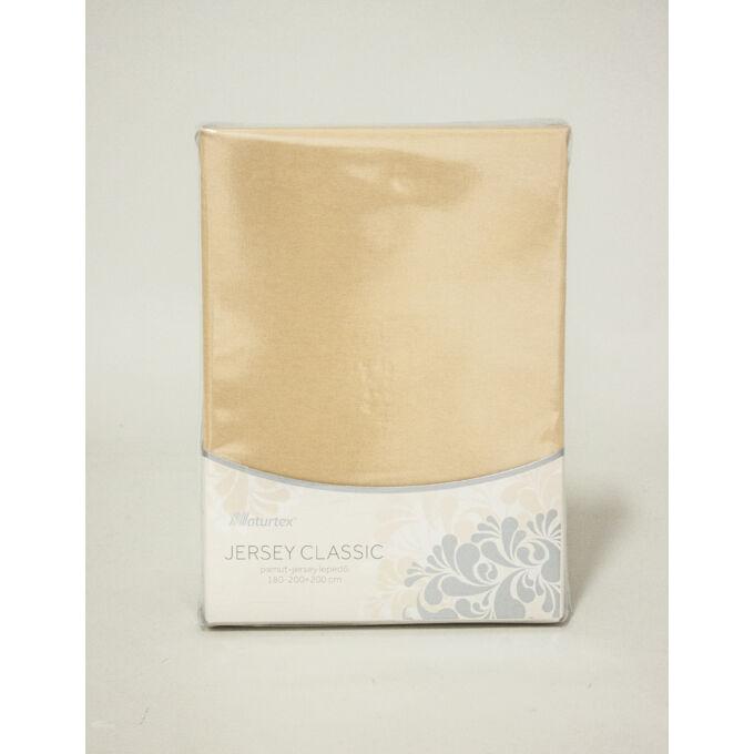 Jersey gumis lepedő 160×200, bronz