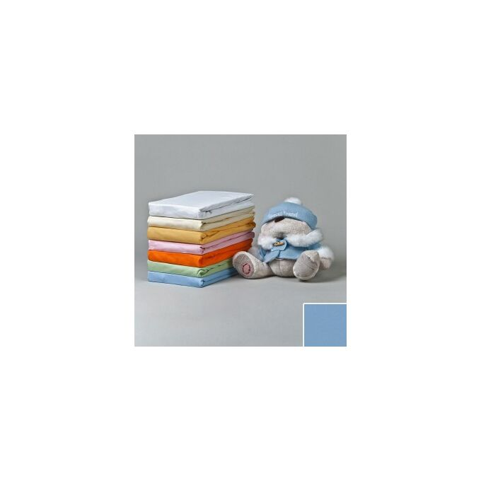 Jersey gumis lepedő 70×140, világoskék