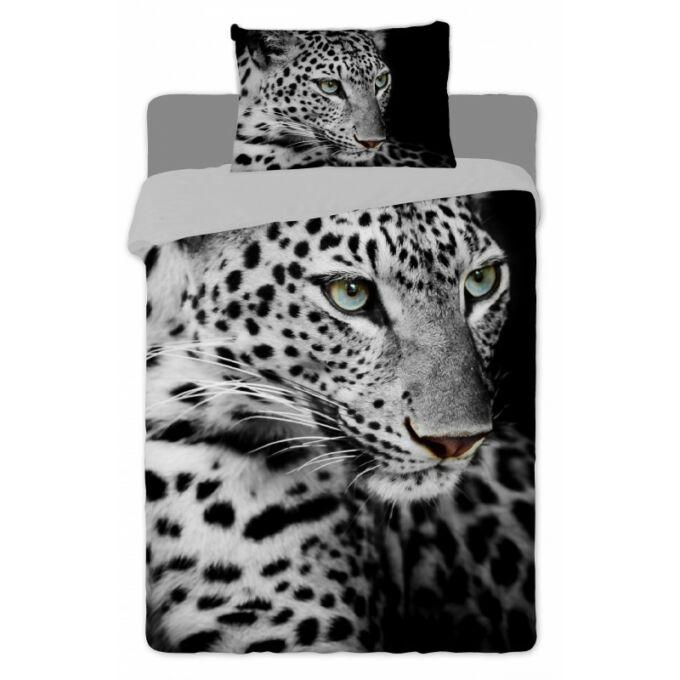 2 részes pamut Leopárdos ágyneműhuzat (fekete-fehér)