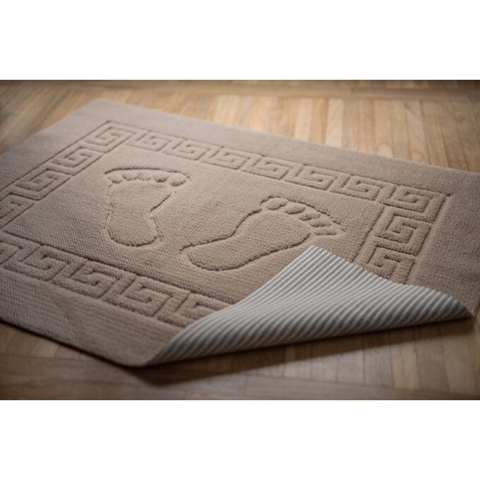 Fürdőszoba szőnyeg - csúszásgátlóval - világos bézs - 50*70 cm