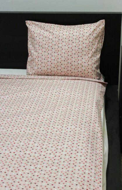 Image of 2 részes gyermek pamut ágyneműhuzat Miniszívek