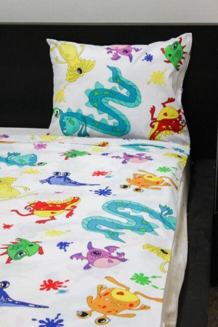 Image of 2 részes gyermek pamut ágyneműhuzat Szörnyecskék