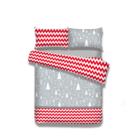 Flanel ágyneműhuzat -Christmasmess-200*220+80*80*2