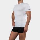 Alsópóló Férfiaknak V-Nyakú Rövid Ujjú - XL - fehér