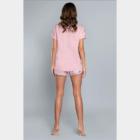 J.PRESS női nyárias pizsama szett - 36 - rózsaszín - GELATO