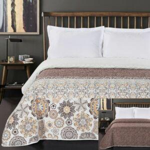 Alhambra ágytakaró - 260*280 cm - barna-narancs, kétoldalas