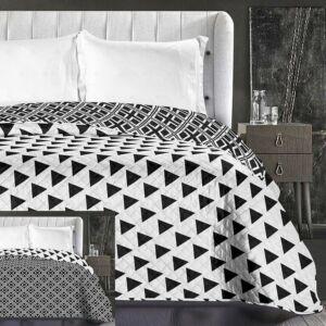 Triangles ágytakaró - 240 260 cm - fekete-fehér 311b7ac808