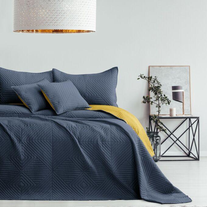 Softa ágytakaró - 240*260 cm - grafit és méz