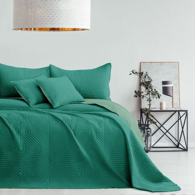 Softa ágytakaró - 260*280 cm - zöld és jádezöld