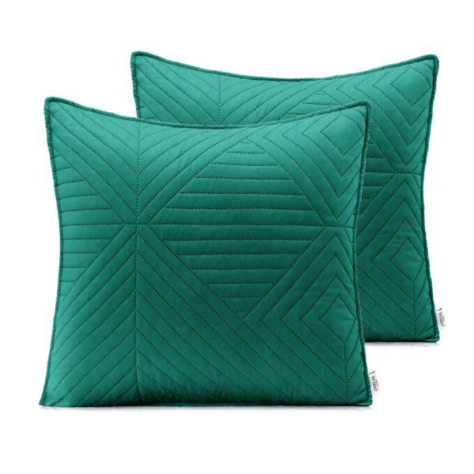 Softa díszpárna huzat 45*45 cm - zöld és jádezöld - 2 darab / csomag