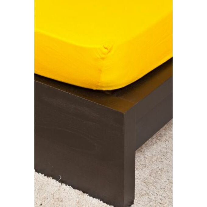 Jersey gumis lepedő 70×140, kukoricasárga